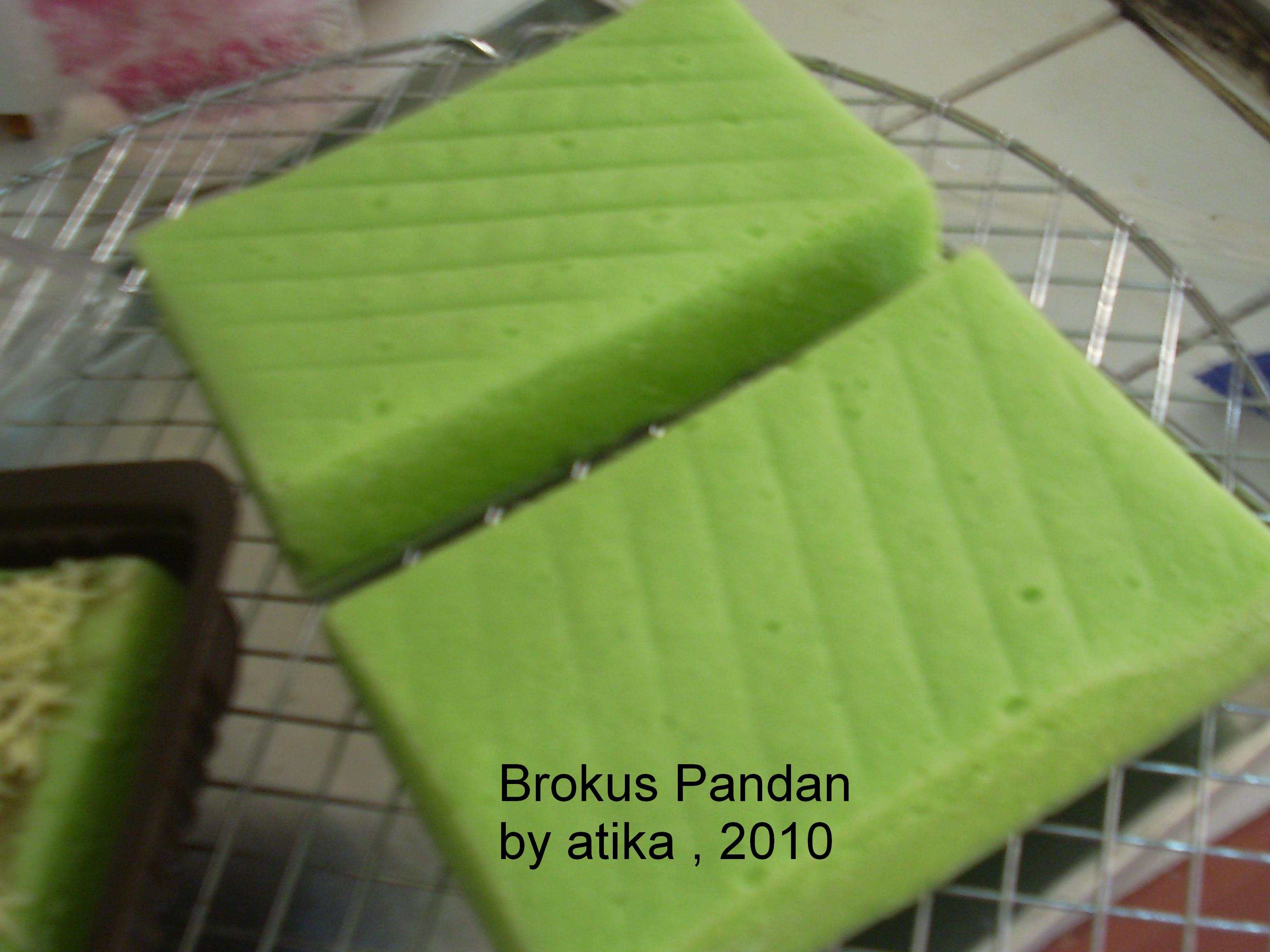 Brownies Kukus Pandan